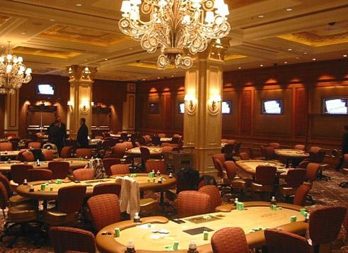 Η αίθουσα πόκερ του Venetian καζίνο στο Λας Βέγκας